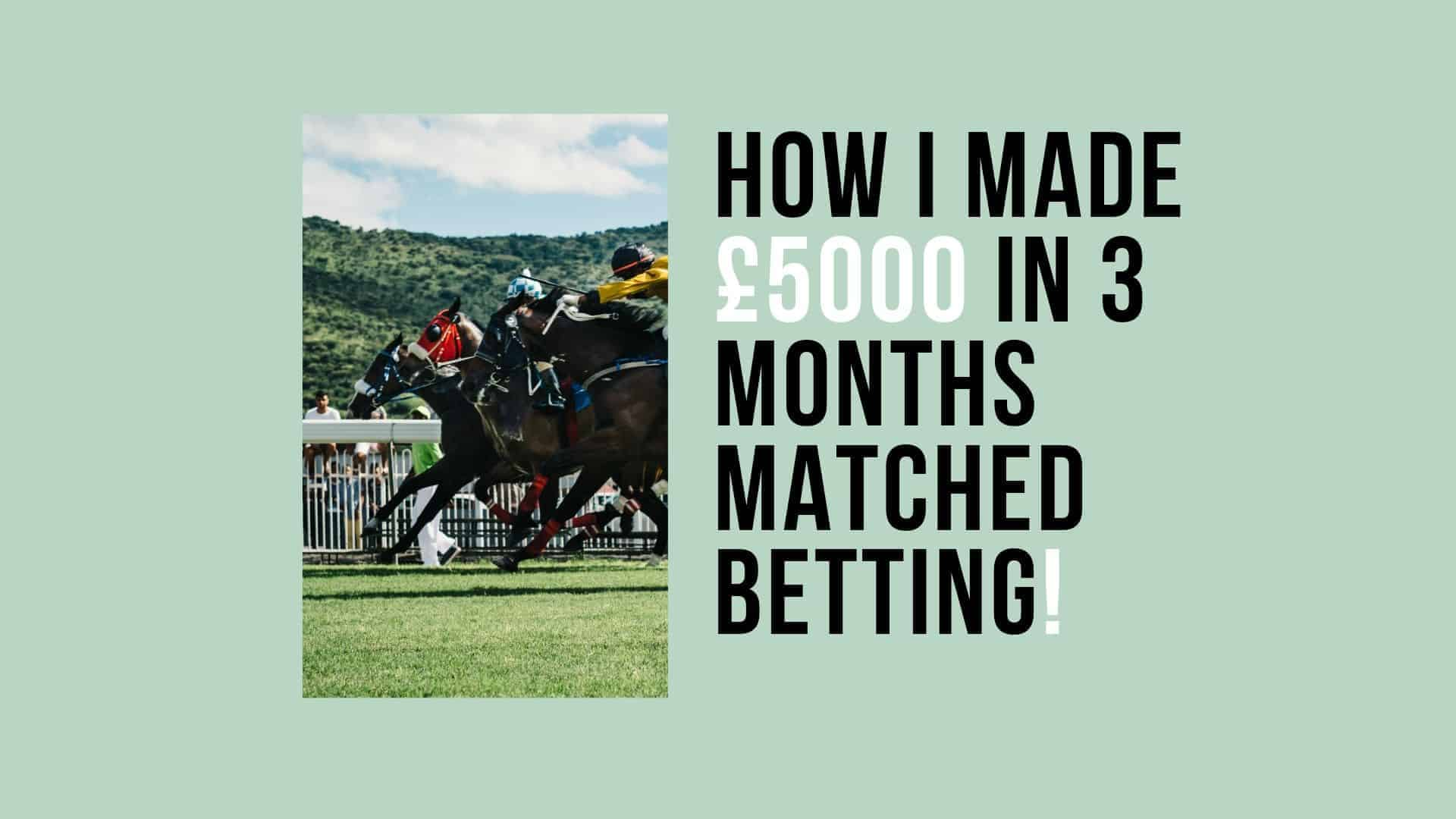 How to make money online matched betting