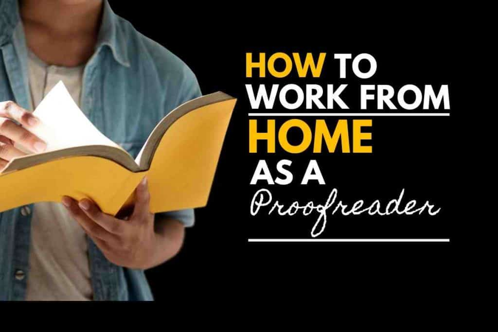 how to work from home as a proofreader